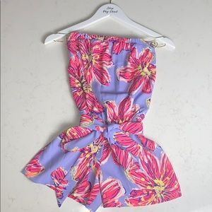 Lilly Pulitzer Ritz Strapless Romper Party Girl